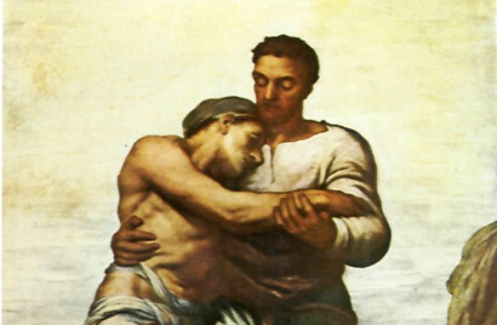 Painting of The Good Samaritan by George Frederic Watts