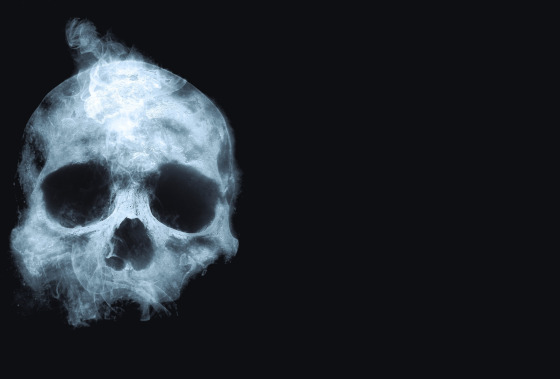 Smoking skull.