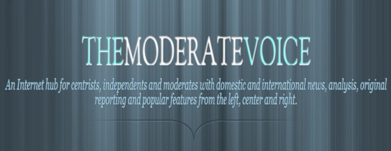 Banner for The Moderate Voice, a political website